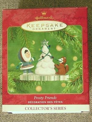 "Nice 2001 Hallmark ""Frosty Friends"" Ornament; #22 In Frosty Friends Series"