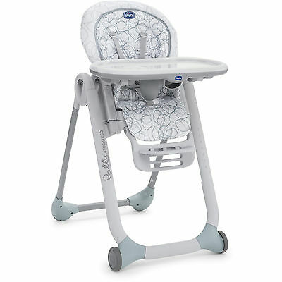 New Chicco Sage Polly Progress 3 In 1 Highchair Baby Feeding Reclining Highchair