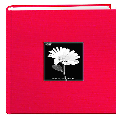 Fabric Frame Cover Photo Album 200 Pockets Hold 4x6 Photos Apple Red