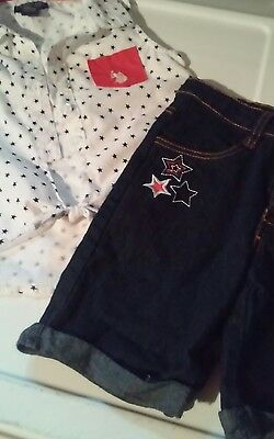 Girls Size 5 2-pc Set Shorts and Top