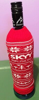 set of 2 SKYY Vodka knitted bottle Covers