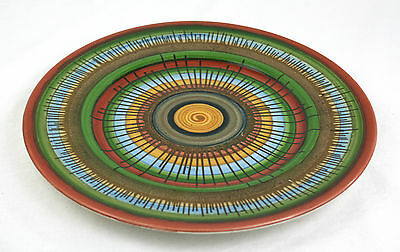 Antique Vintage Royal Doulton Spiral Swirl Plate Abstract Rare 1902-22 27 cm