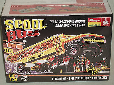 Monogram 1/24 Scale S'cool Bus By Tom Daniel - Factory Sealed