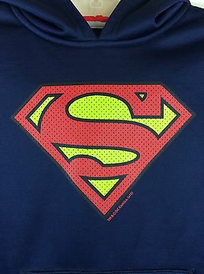SUPERMAN Under Armour STORM ColdGear Loose Pullover Hoodie Sweatshirt Youth Sz S
