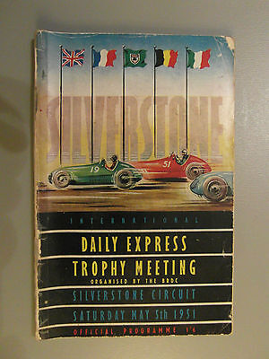 Vintage Silverstone 1951 Trophy Meeting Programme