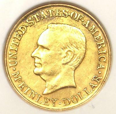 1917 McKinley Gold Dollar Coin G$1 - ANACS AU55 Details - Rare Certified Coin!
