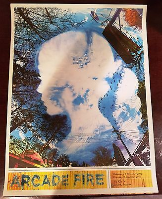 Arcade Fire - O2 Arena - London UK - Wes Winship - 12/9/10 Screen Print