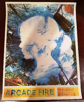 Arcade Fire Suburbs London UK Wes Winship 12/9/10 Show Print Sold Out Poster