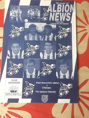 West Bromwich Albion v  Chelsea  friendly 1991