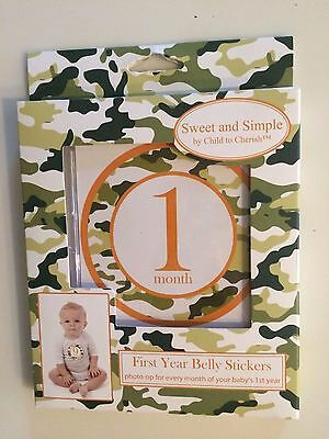 Baby's First Year Belly Stickers Camo Camouflage set of 12  NEW