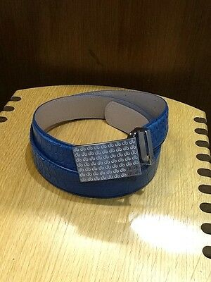 Druh Croc Players Blue Leather Belt, NEW  Sold By PGA PRO