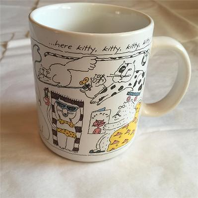 "Vintage 1984 HALLMARK ""Here Kitty, Kitty, Kitty, Kitty Coffee Cup Mug - Japan"