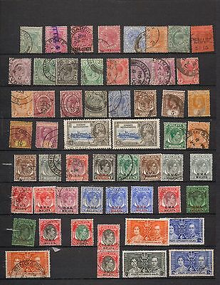 Straits Settlements. 1882-1945. QV-GVI. 54 mostly used stamps & 1pair