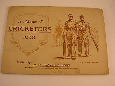 Two Cigarette Cards Album Cricketers 1938  Cycling 1939  John Players