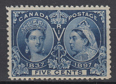 Canada #54 5¢ Queen Victoria Diamond Jubilee Pristine OG Mint Never Hinged