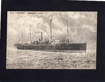 """""""Gothic"""" White star Line in Aberdeen Line colours postcard"""