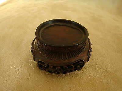 SUPERB ANTIQUE CHINESE SMALL CARVED WOOD STAND 19th - 20th c.