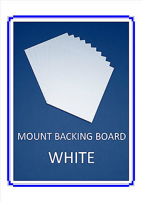 50 pack.Picture Mount backing board - White 8 x 6