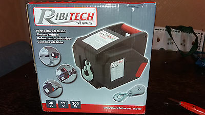 Ribitech 12v electric winch for vehicle use