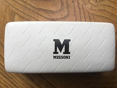 Missoni White Leather Sunglasses Case With Logo Very Stylish Good Used Condition