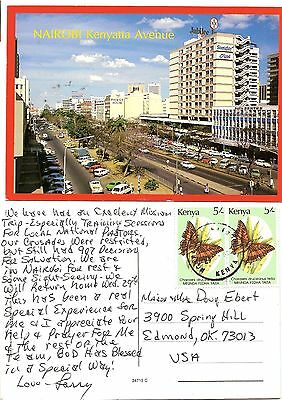 Kenya Used Postcard to US from 1990's