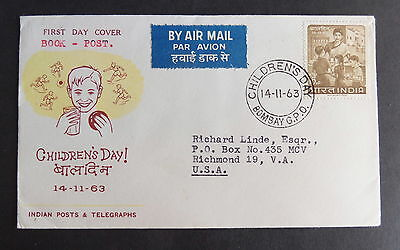 India 1963 Children's Day SG477 School Meals FDC First Day Cover