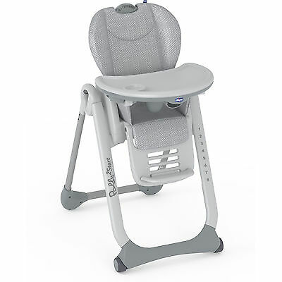 Chicco Silver Polly 2 Start Baby Feeding Height Adjustable Reclining Highchair