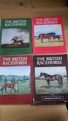 British Racehorse Magazine's 4 issues ,3 from 1968 and 1 from 1962