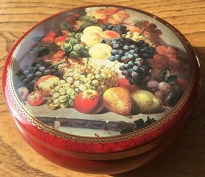 Vintage Tin With Antique Fruits Still Life Print Very Pretty