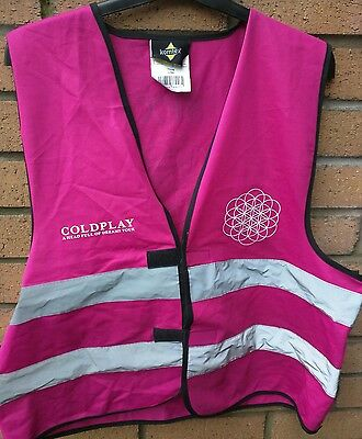 Coldplay 2016 A Head Full Of Dreams Tour Crew pink SFX safety vest XL