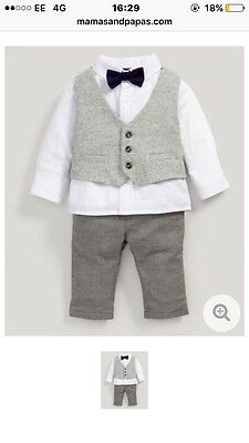 Baby Boys Mamas And Papas Suit - Age 9-12 Months