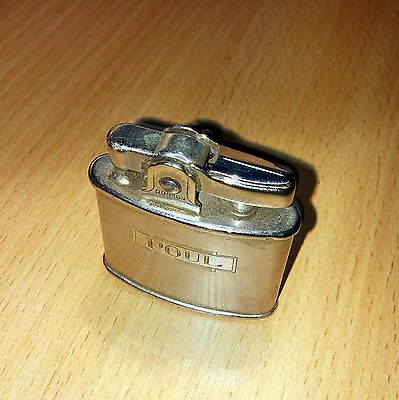 VINTAGE Working RONSON Standard PETROL LIGHTER POCKET C~1950's  etched Poul