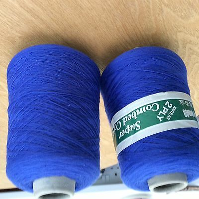 2cones of forsell super cotton in very nice shade of blue
