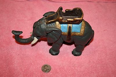 Vintage Cast Iron Mechanical Elephant Coin Bank Tail Lifts Trunk Movement