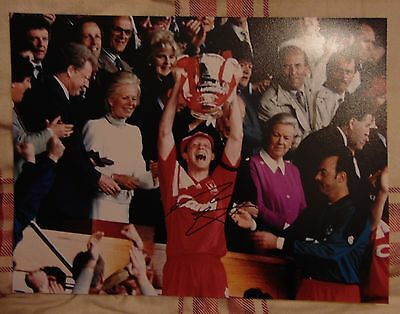 Mark Wright Liverpool Fc Signed 1992 Fa Cup Final Photograph