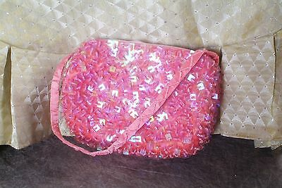 womens cute pink sequin sparkly purse cute for Easter