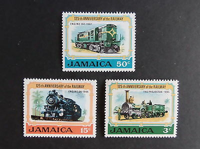 Jamaica 1970 125th Ann Jamaican Railways SG325/7 train MNH UM unmounted mint