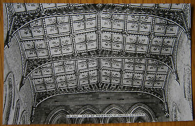 Presbytery Roof St Davids Cathedral Postcard RP Frith Interior View Wales