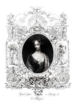 Frances Jennings, Countess of Tyrconnel - Eng. by Wagstaff & Von Holst - 1832