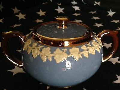 Gibson Staffordshire Sugar bowl with lid.