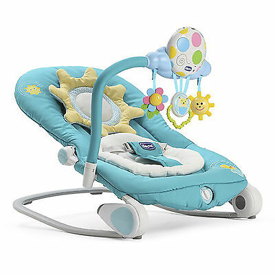 New Chicco Balloon Bouncer Turquoise Adjustable Baby Rocker Chair From Birth