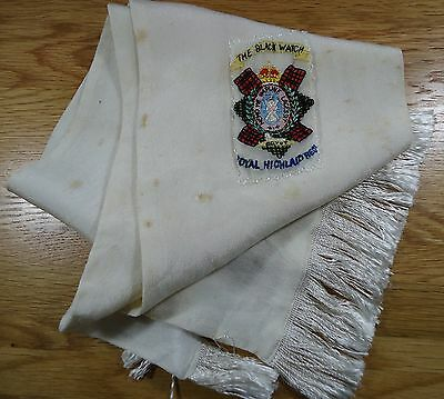 1WW Silk Scarf with Black Watch Embroidered badge