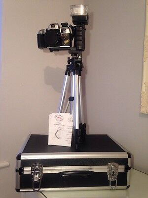 Old Teica Camera With Case, Tripod, Strap And Telescopic Flash