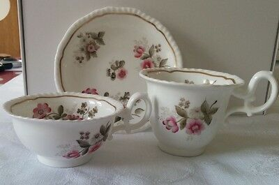 H & R Daniel Trio of Tea and Coffee Cup & Saucer C1825