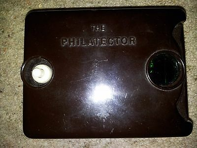 Rare vintage The Philatector stamp watermark detector.  Very early black one.