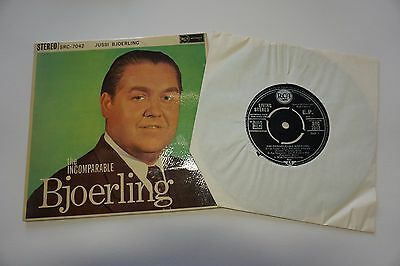 "RCA LIVING STEREO ED1. Jussi Bjoerling "" Incomparable "" EP SRC 7042 RARE 7"" nm"