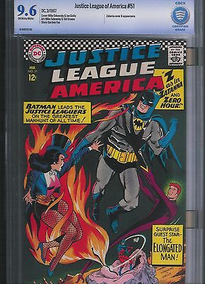 Justice League of America # 51 CBCS 9.6  Off White to White Pages. UnRestored.