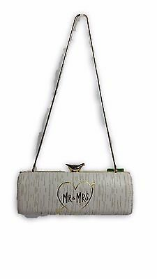 NWR kate spade new york 'wedding belles - mr. & mrs.' clutch - white and gold