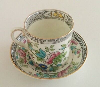 Miniature Aynsley  Indian Tree Pattern Coffee Cup & Saucer C1900