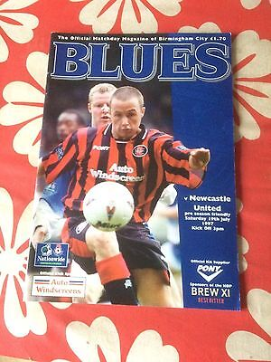 Birmingham City v Newcastle United friendly 1997